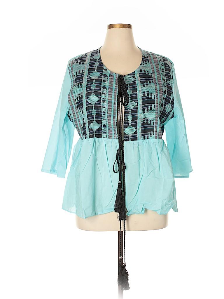 Velzera Women 3/4 Sleeve Blouse Size 1XL (Plus)