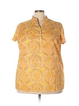 Isaac Mizrahi Short Sleeve Blouse Size 2X (Plus)
