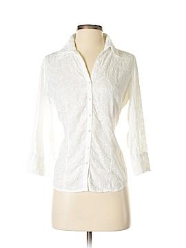 Cino 3/4 Sleeve Button-Down Shirt Size S
