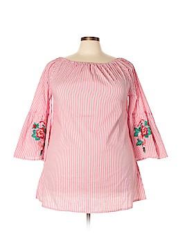 Velzera 3/4 Sleeve Blouse Size 1XL (Plus)