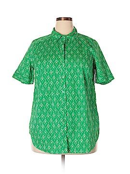 Roaman's Short Sleeve Button-Down Shirt Size 18 (Plus)