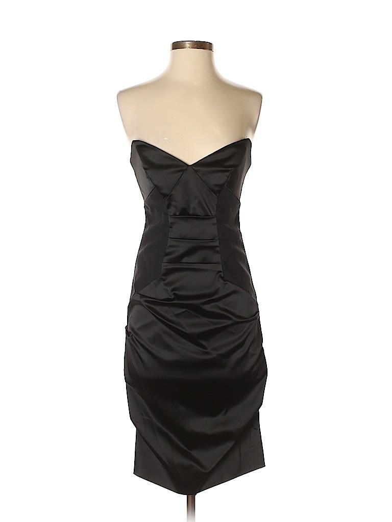 Nicole Miller Solid Black Cocktail Dress Size 2 84 Off Thredup