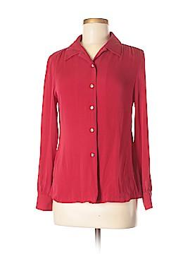 Valerie Stevens Long Sleeve Silk Top Size M