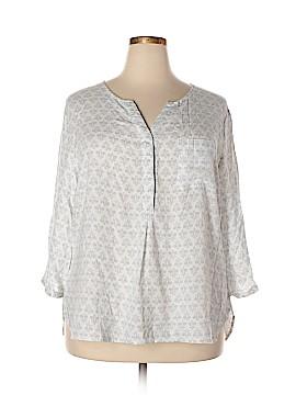 Kenar 3/4 Sleeve Button-Down Shirt Size 2X (Plus)