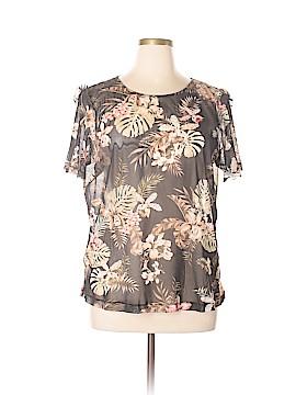 Violeta by Mango Short Sleeve Top Size XL