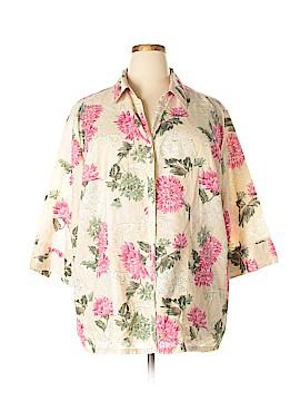 Liz & Me 3/4 Sleeve Button-Down Shirt Size 2X (Plus)