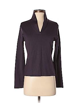 Liz Claiborne Long Sleeve Silk Top Size M