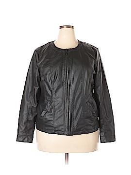 Outer Edge Faux Leather Jacket Size 2X (Plus)