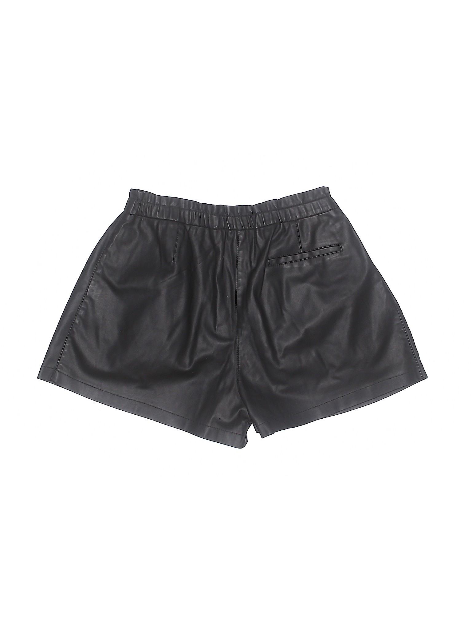 Zara Shorts leisure Faux Boutique Leather SOH0URq