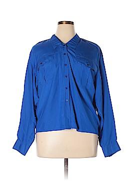Kenar Long Sleeve Silk Top Size 14