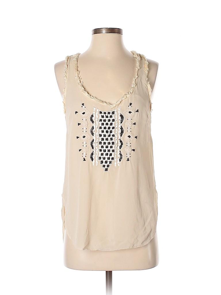 Floreat Women Sleeveless Silk Top Size 2