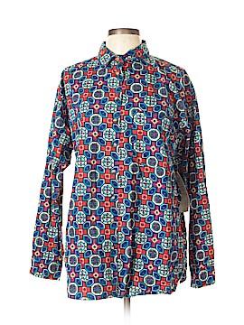 Copper Key Long Sleeve Button-Down Shirt Size L
