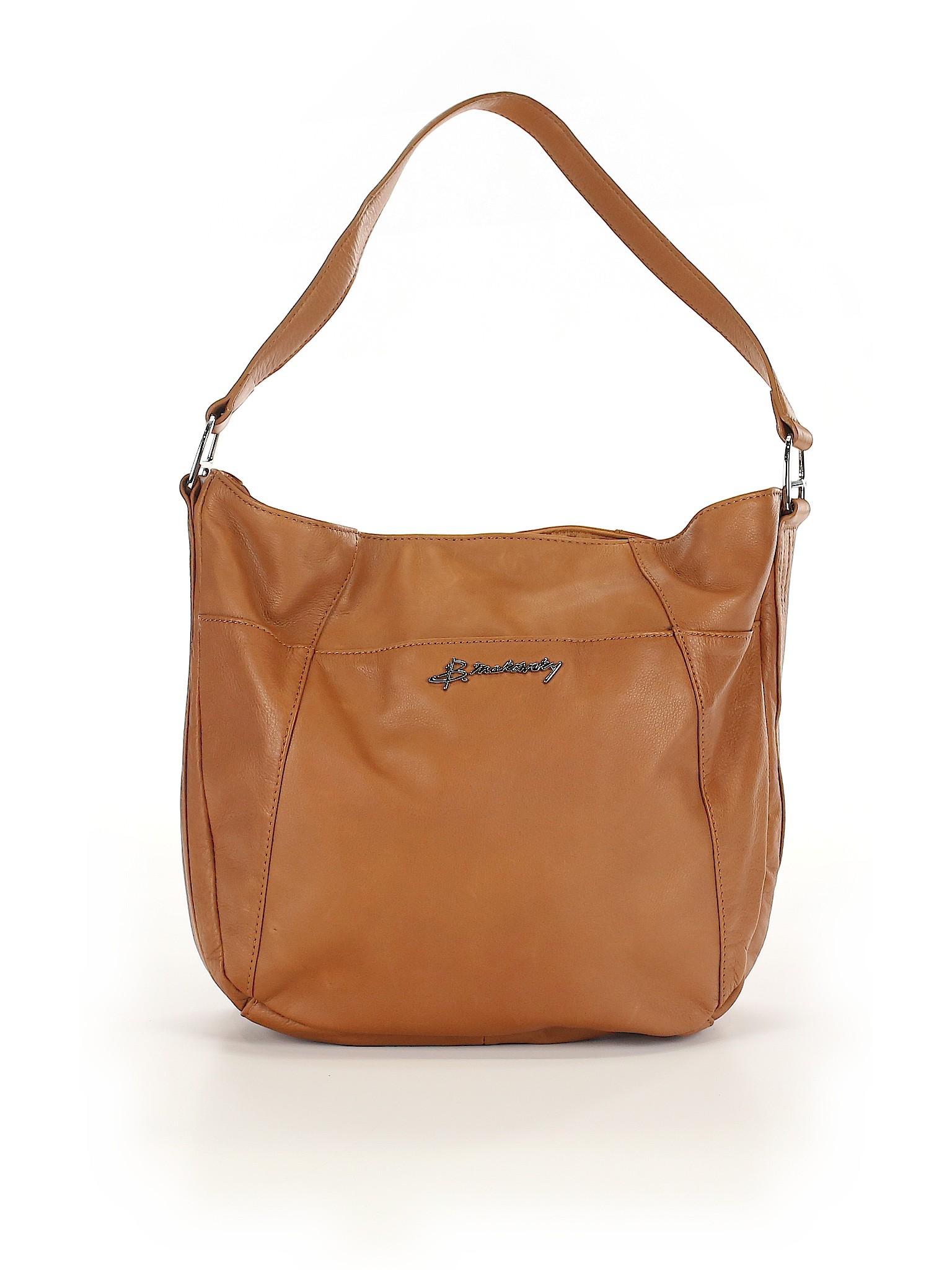 bdeae9b4f713 B Makowsky Solid Brown Shoulder Bag One Size - 64% off