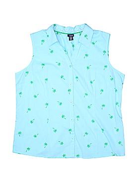 Basic Editions Sleeveless Button-Down Shirt Size XL