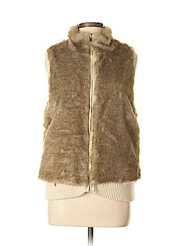 Ann Taylor Faux Fur Vest Size M