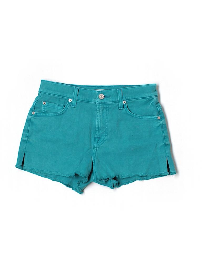 7 For All Mankind Women Denim Shorts 25 Waist