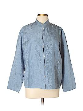 Linden Hill Long Sleeve Silk Top Size XL