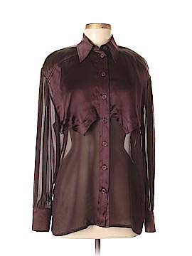 Escada by Margaretha Ley Long Sleeve Silk Top Size 38 (EU)