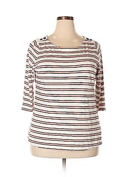Valerie Bertinelli 3/4 Sleeve T-Shirt Size 2X (Plus)