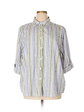 BonWorth 3/4 Sleeve Button-Down Shirt Size 2X (Plus)
