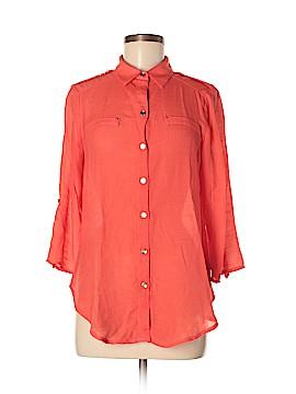 I.N. Studio 3/4 Sleeve Button-Down Shirt Size M (Petite)