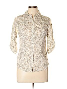 Rubbish 3/4 Sleeve Button-Down Shirt Size M