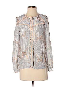 Aryn K. Long Sleeve Silk Top Size S