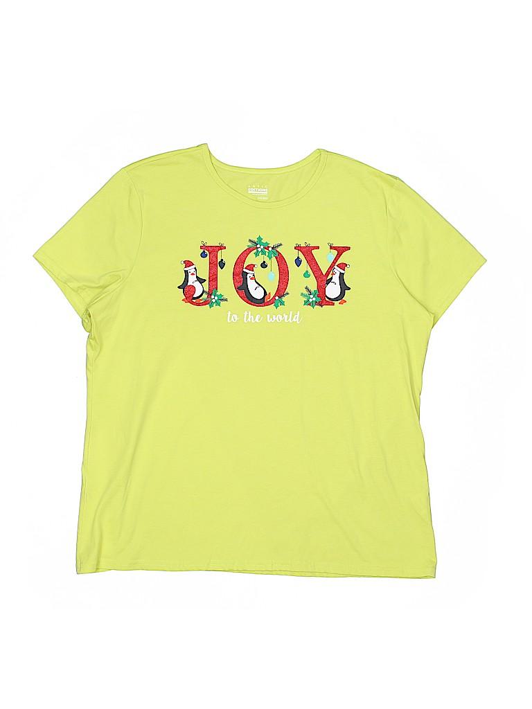 Basic Editions Women Short Sleeve T-Shirt Size XXL