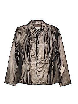 Apostrophe Leather Jacket Size 12