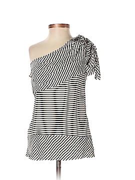 BCBGMAXAZRIA Short Sleeve Silk Top Size S