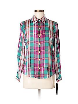 Foxcroft Long Sleeve Blouse Size 6 (Petite)