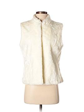 White House Black Market Faux Fur Vest Size M