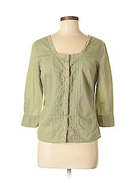 Caribbean Joe 3/4 Sleeve Button-Down Shirt Size S