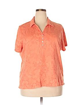 Caribbean Joe Short Sleeve Henley Size 2X (Plus)