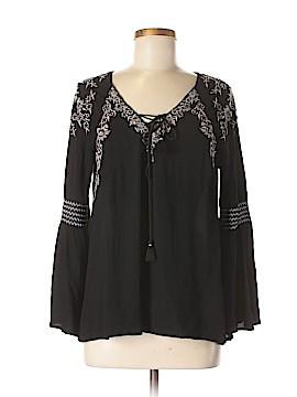 INC International Concepts Long Sleeve Blouse Size M