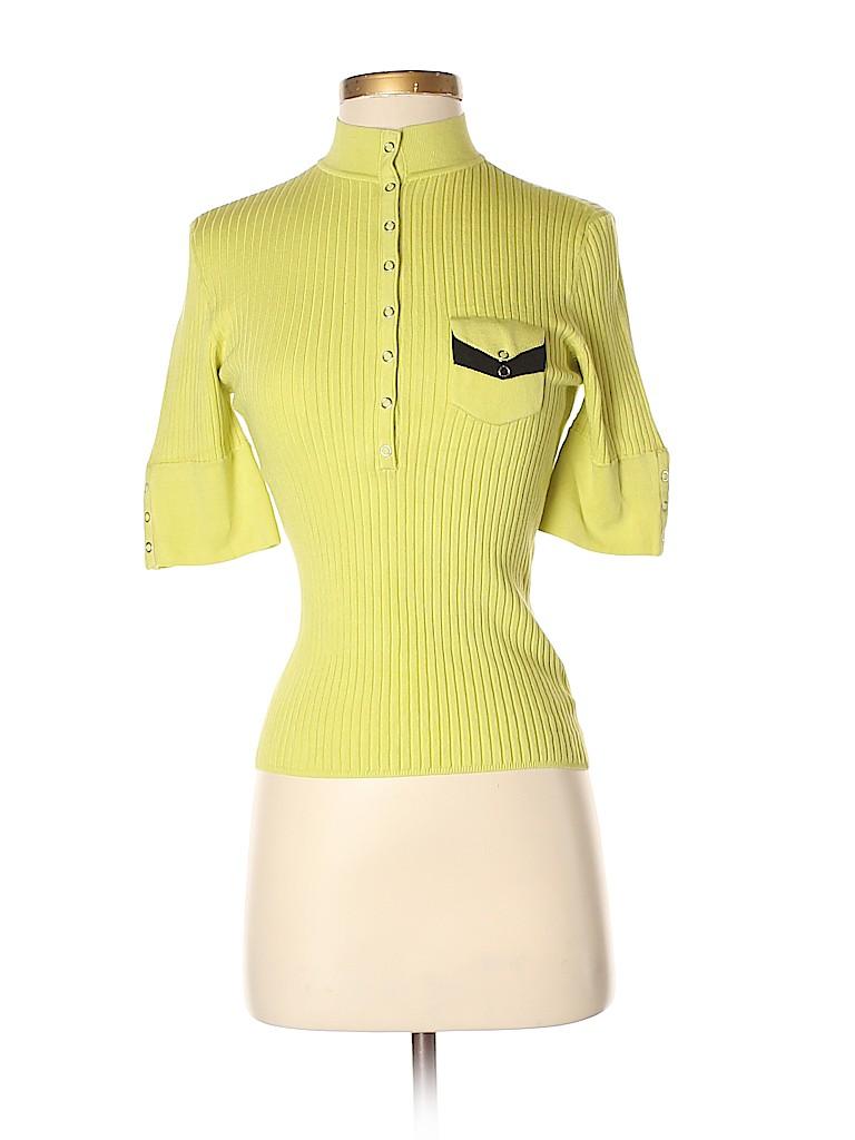 Jamie Sadock Women Short Sleeve Silk Top Size S