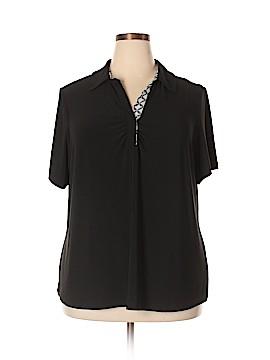 Susan Graver Short Sleeve Polo Size 2X (Plus)
