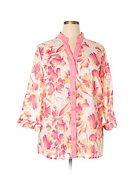 Carole Little 3/4 Sleeve Blouse Size 1X (Plus)