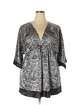 BCBGMAXAZRIA Short Sleeve Blouse Size 2X (Plus)