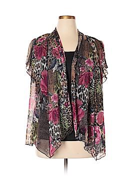 Sara Michelle Short Sleeve Blouse Size 1X (Plus)