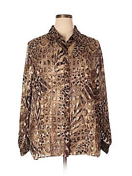 Fashion Bug Long Sleeve Blouse Size 22 - 24 (Plus)