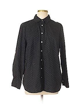 Dalia Collection Long Sleeve Button-Down Shirt Size 1X (Plus)