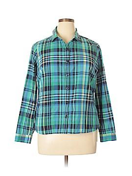 Christopher & Banks Long Sleeve Button-Down Shirt Size 1X (Plus)