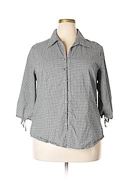 Edward 3/4 Sleeve Button-Down Shirt Size 2X (Plus)