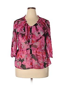 Elle 3/4 Sleeve Blouse Size XL