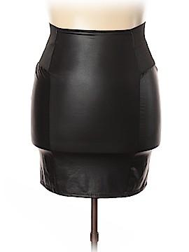 Caren Sport Faux Leather Skirt Size 1X (Plus)