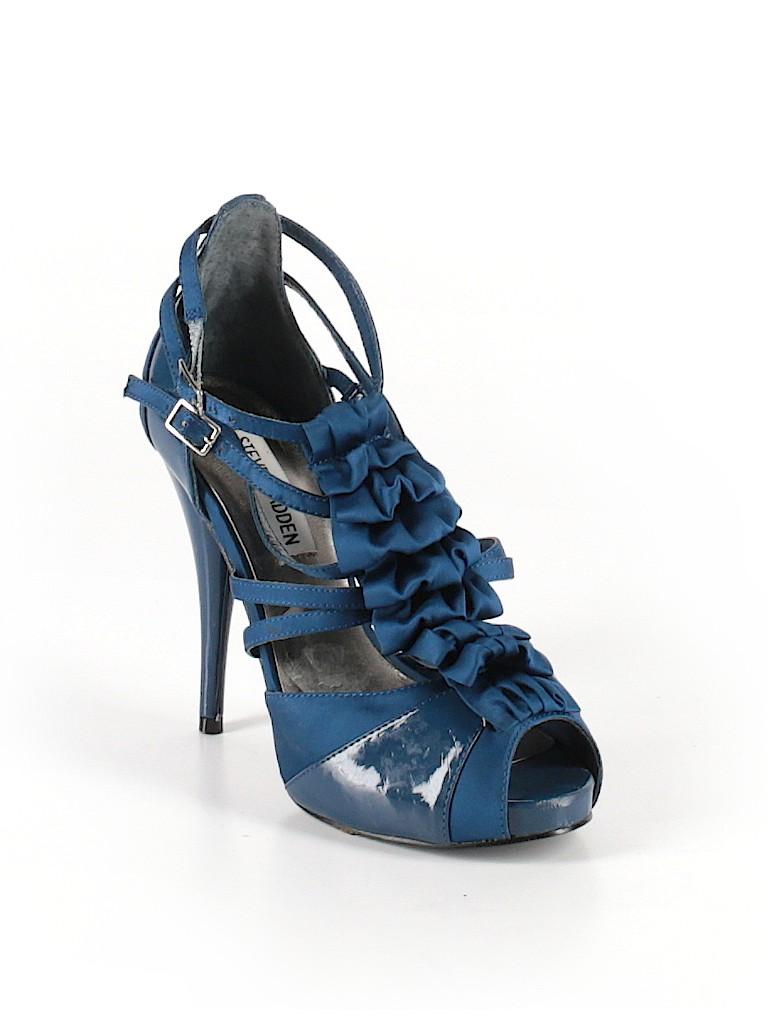 1c2cb28e6a5 Steve Madden Solid Navy Blue Heels Size 5 1 2 - 85% off