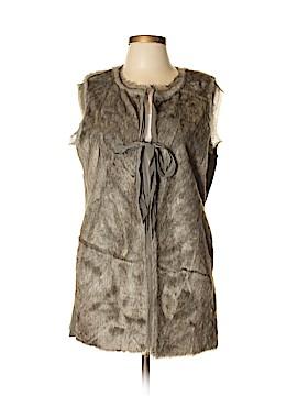 Simply Vera Vera Wang Faux Fur Vest Size L