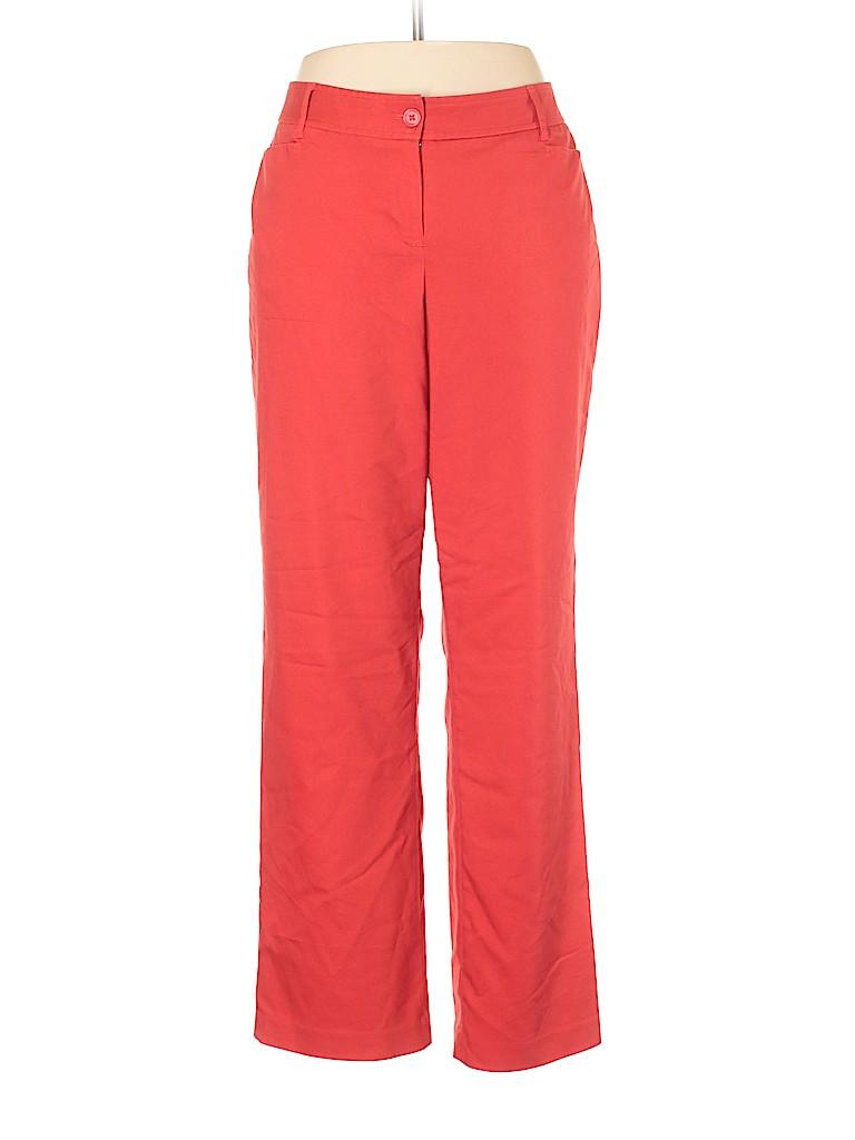 Lane Bryant Solid Red Dress Pants Size 16 (Plus) - 76% off | thredUP