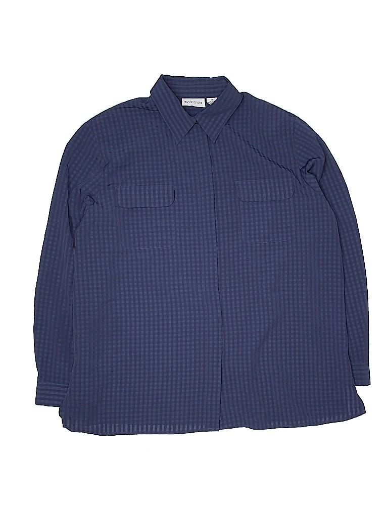 Apparenza Women Long Sleeve Button-Down Shirt Size 2X (Plus)